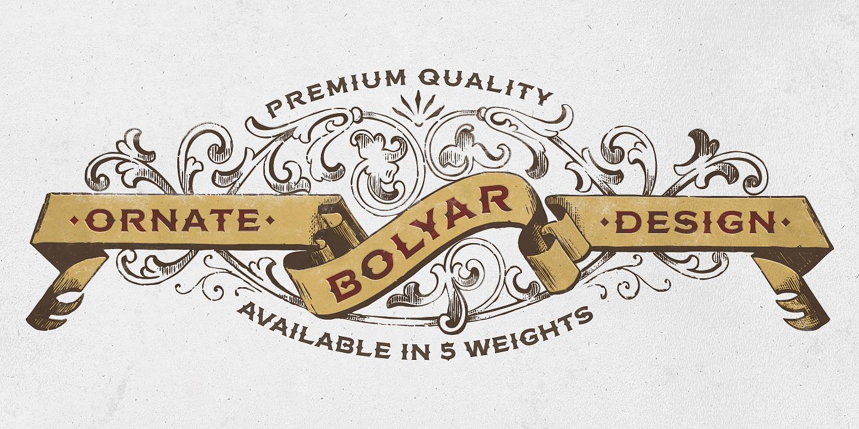 FM Bolyar Ornate Pro font